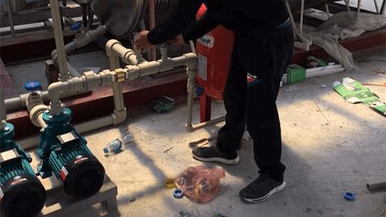 Lắp đặt máy bơm tăng áp